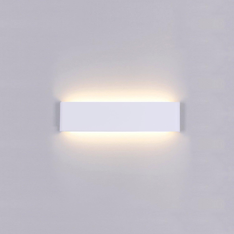 Liqoo Applique da Parete Interni LED Impermeabile IP44 con Trasformatore Lampada Parete Moderna Luce Bagno Specchio 14W Pari a 65W Luce Bianco Caldo 3000K 898 lumen Angolo a Fascio 120 Gradi 101000180