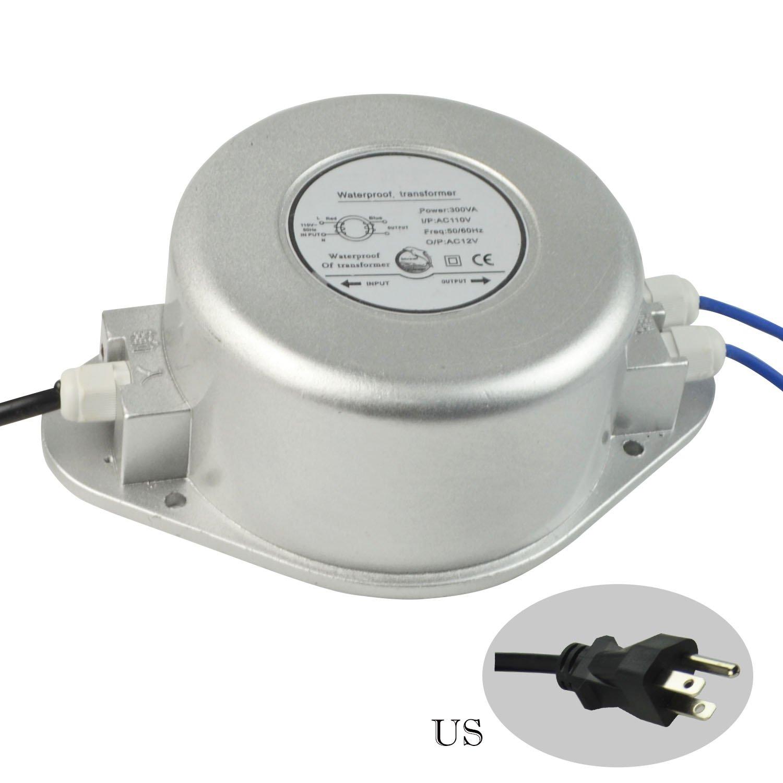 ac110 V to ac12 V防水変圧器のLEDアンダーウォータープールライト 300 Watt PNRCC96300W 300 Watt  B0759MXX45