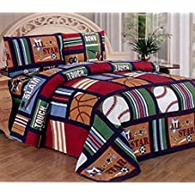 Fancy Collection Blue Red Green Sport Kids/teens 3 Pc Sheet Set Pillow Shams ...
