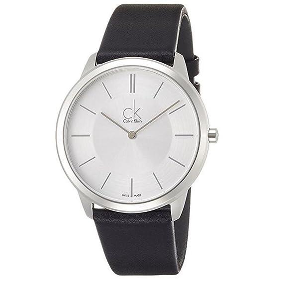 Calvin Klein Reloj Analogico para Hombre de Cuarzo con Correa en Cuero K3M211C6: Amazon.es: Relojes