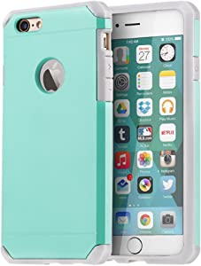 iPhone 6 / 6s Case, ImpactStrong Heavy Duty Dual Layer Protection Cover Heavy Duty Case for Apple iPhone 6 / 6s (Light Mint)