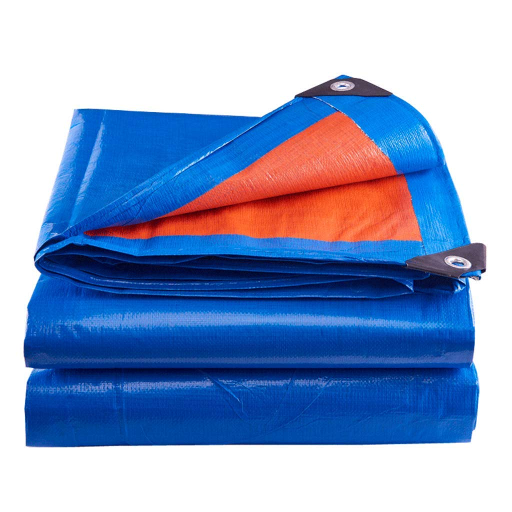 Showly Orange Blau Heavy Duty Plane Plane Baldachin Zelt Mit Ösen, Wasserdicht Und UV-Schutz Für Zelt Camping, Hängematte, Pool, Garten, Auto 8  12m