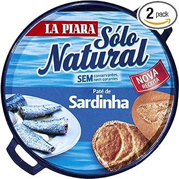 La piara Sardina Pate Pack 2 x 75 g latas tapas Españolas ...