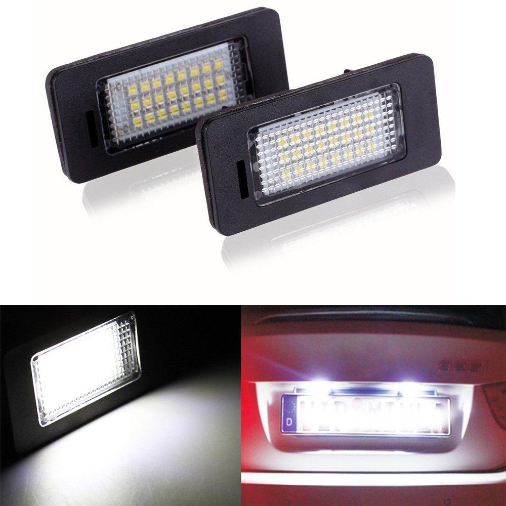 Haichen 2pcs Error Free LED License Plate Light Lamp(DC 12V)