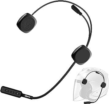 1 par Intercomunicador de Motocicleta Casco Auriculares Auriculares inal/ámbricos Bluetooth Negro Auriculares Auriculares