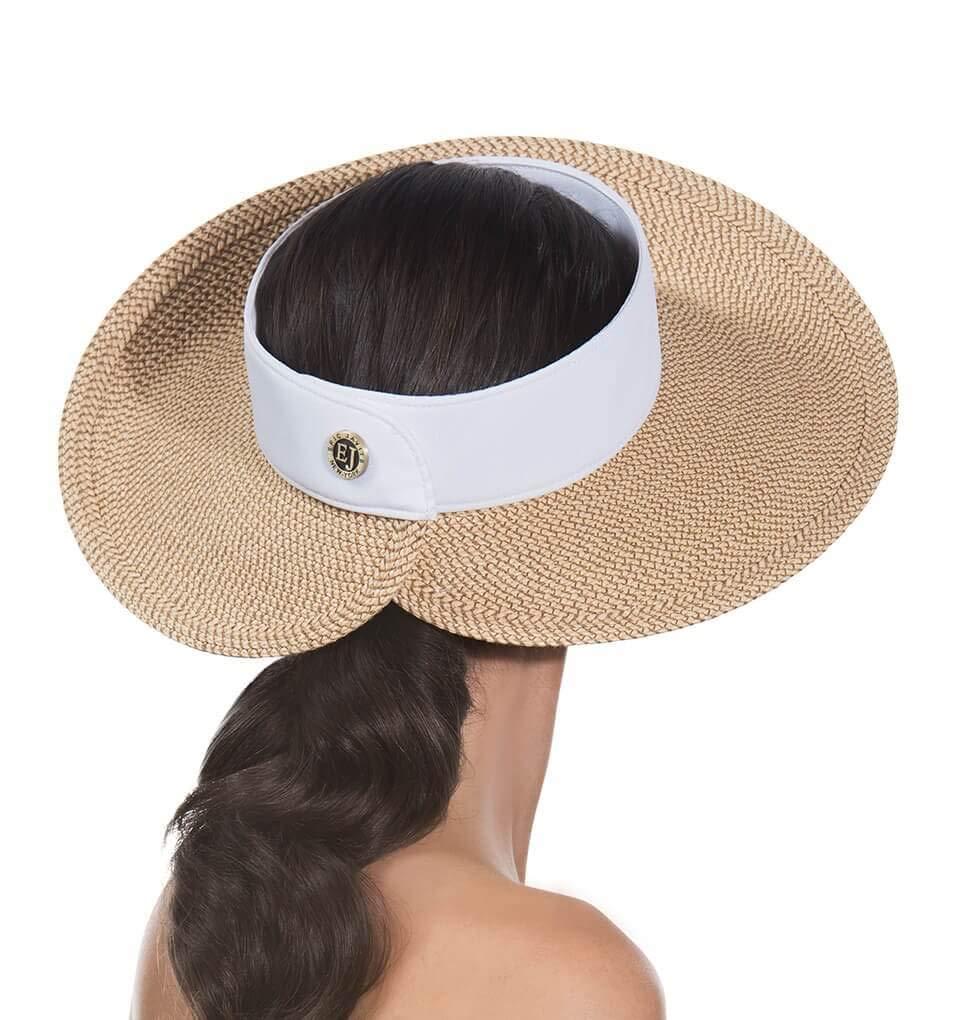 Eric Javits Luxury Women's Designer Headwear Hat - Squishee Halo - Peanut/White by Eric Javits (Image #2)
