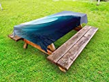 Lunarable Ocean Outdoor Tablecloth, Tropical Surfing Huge Wave on a Windy Sea Indonesia Sumatra Picture Print, Decorative Washable Picnic Table Cloth, 58 X 84 Inches, Blue Aqua and White