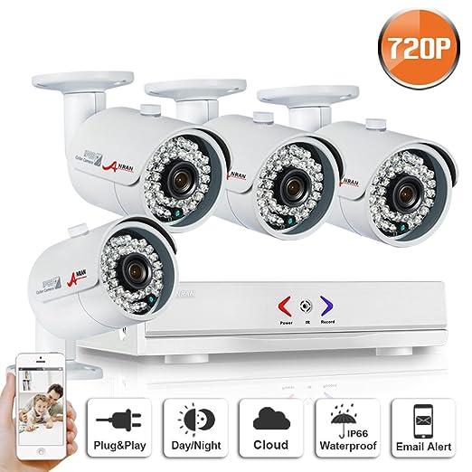 3 opinioni per ANRAN 4ch 1080N AHD Sistema di telecamera di sorveglianza QR Code,