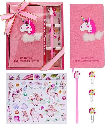 Unicorn Notebook Gel Pens Set Journal Stationery Set Birthday Gifts for Girls,