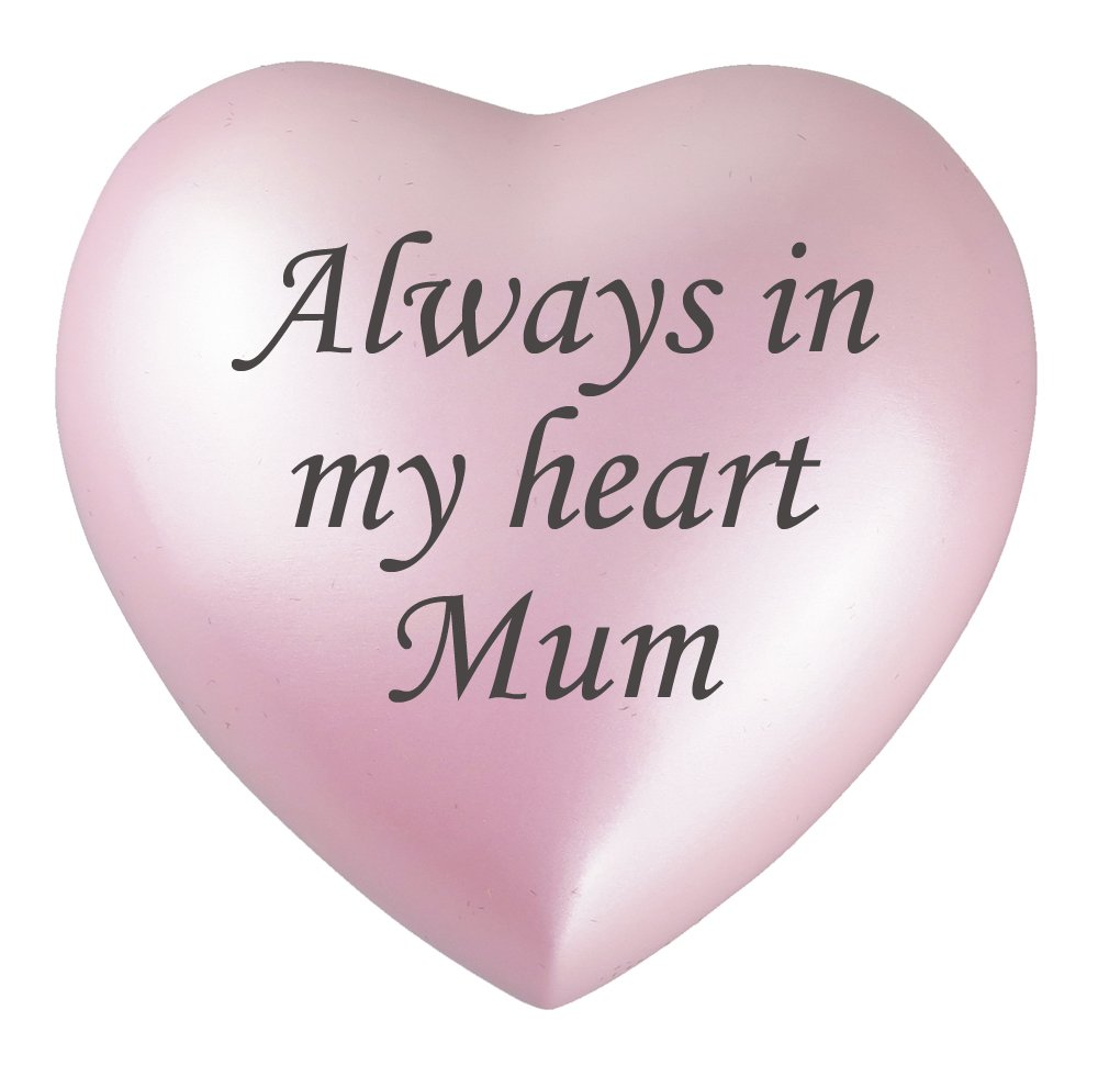 Always In My Heart Mum Pink Urn Keepsake for Ashes Cremation Love to Treasure