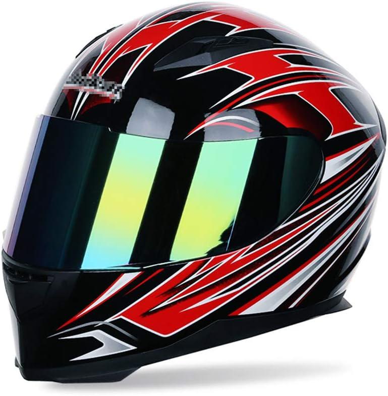 B VOVSO Casco Integrale da Moto Casco Moto Cross Casco da Corsa DOT Certificata Gli Uomini E Le Donne Quattro Stagioni Casco Moto 61~62cm XXL