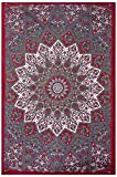 GLOBUS CHOICE INC. Twin Mehroon Gray Bohemian Tapestry Elephant Star Mandala Tapestry Tapestry Wall Hanging Boho Tapestry Hippie Hippy Tapestry Beach Coverlet Curtain