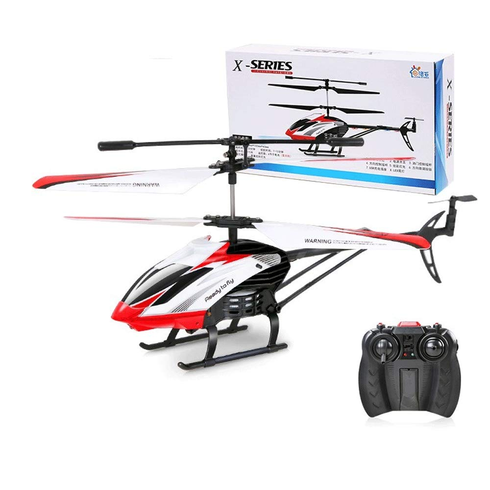 Zenghh Remote Control Helicopter Remote Control Aircraft Toy Multiplayer Game Alloy Frame Charging And LED Lights Children Adult Indoor Outdoor Shatter-resistant Rocker Airborne Model Gyro Mini New Bo