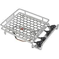 KKmoon Rack de bagageiro de tejadilho com barra de luz para 1/10 Monster Truck RC Crawler de carro axial SCX10 90046 D90…