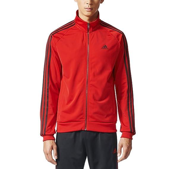 adidas Mens Essentials 3-Stripe Tricot Track Jacket