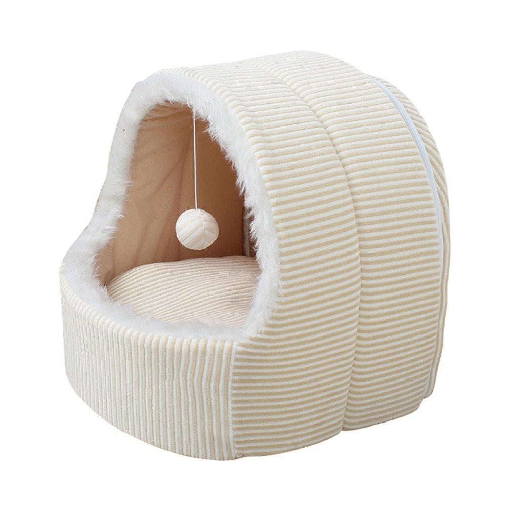 Beige 454848cm Beige 454848cm LDFN Bite-resistant Dog Nest Washable Four Seasons General Pet Mattress Sofa Cushions,Beige-454848cm