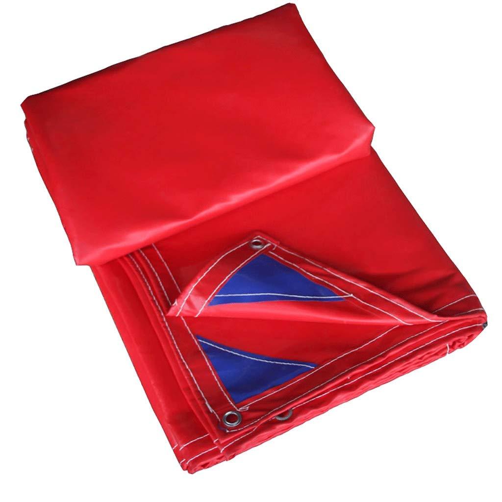 防水布厚いPVCキャンバストラックタパリン防水性防水シート祭り生地 (色 : 赤, サイズ さいず : 3m*4m) 3m*4m 赤 B07QG7TMHK