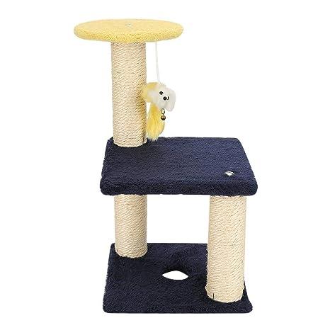 Haofy Árbol de Gatos con Postes Rascadores para Mascotas(Gatito)