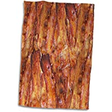 """3dRose Bacon Background Towel, 15"""" x 22"""""""