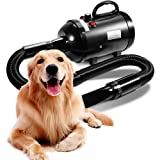 AIIYME Dog Dryer, 3200W/4.3HP Motor Stepless Adjustable Speed Dog Hair Dryer Pet Dog Grooming Dryer Blower with Adjustable Te
