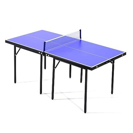 HOMCOM Mesa de Ping Pong, Plegable, Profesional, de Color Azul ...