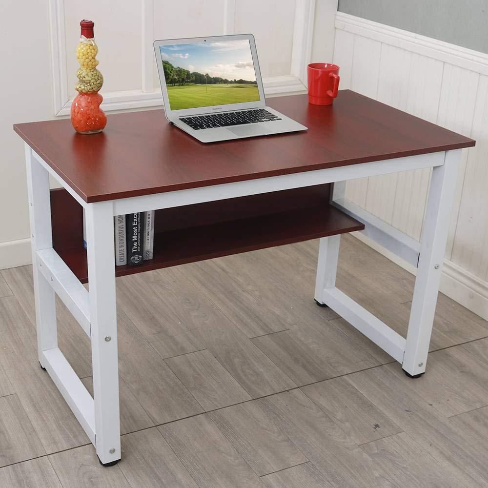 Amazon.com: Binlin Wooden Computer Desk,Computer Desk Wooden ...