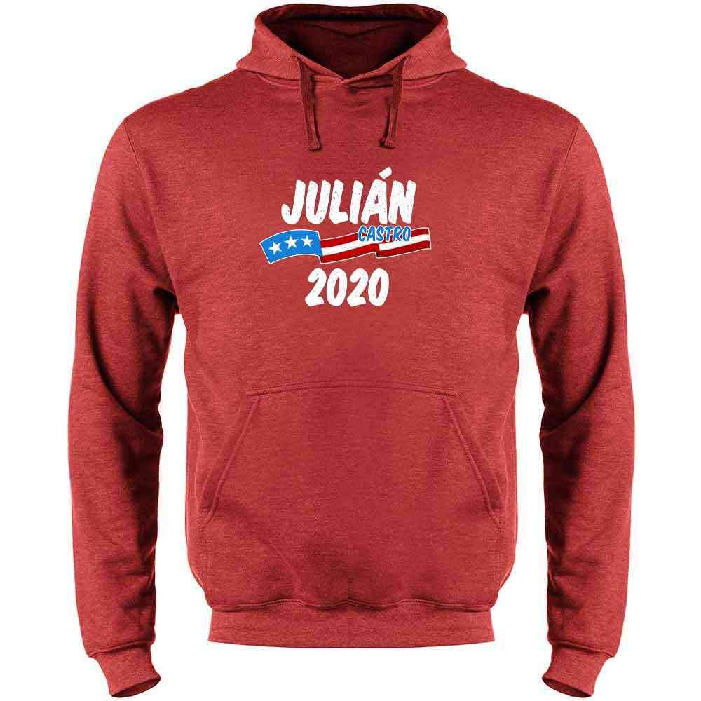 Pop Threads Julian Castro for President 2020 Campaign Mens Fleece Hoodie Sweatshirt
