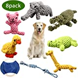 ZOUTOG Puppy Chew Toys, Set of 8 Dog Rope Toys for Aggressive Chewers, Dog Toys with Safe Material for Small/Medium/Large Dog