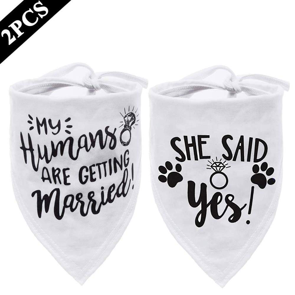 My Humans are Getting Married Dog Bandana, Wedding Dog Bandana, Dog Engagement Announcement, Wedding Photo Prop, Pet…