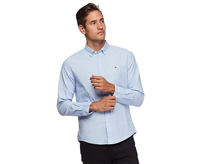 7a4fe00a2e8 Tommy Hilfiger Mens Custom Fit Long Sleeve Buttondown Shirt: Amazon.co.uk:  Clothing