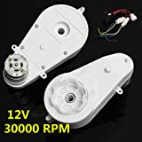 Miaomiaogo 2PCS 12V 30000RPM Electric Motor Gear