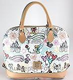 Disney Dooney & Bourke White Sketch Zip Zip Shoulder Satchel Purse