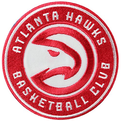 fan products of Official Atlanta Hawks Logo Large Sticker Iron On NBA Basketball Patch Emblem