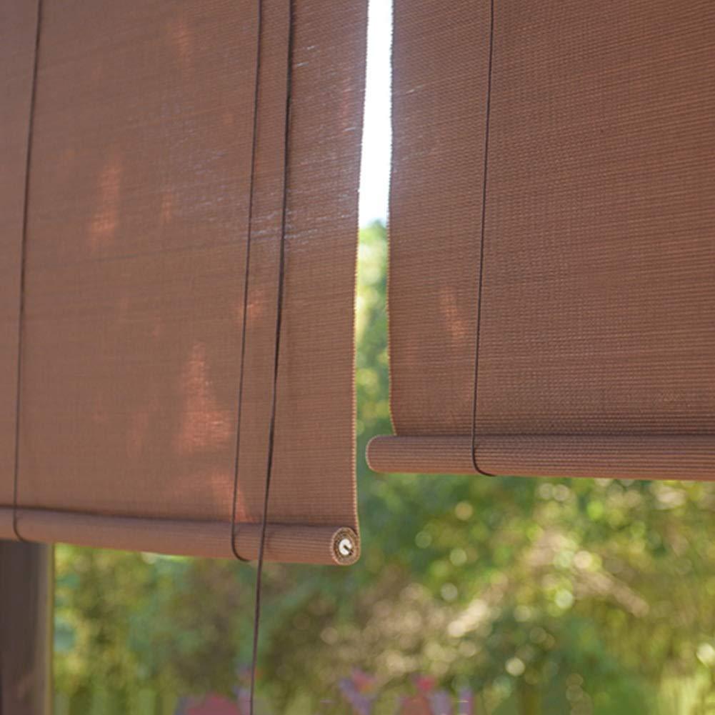 WENZHE 竹屏幕 竹スクリーン ウッドブラインド ロールシャッター 日焼け止め ホーム バルコニー リフト式 サイズ カスタマイズ可能 (色 : A, サイズ さいず : 150x300cm) 150x300cm A B07QD5TFHK