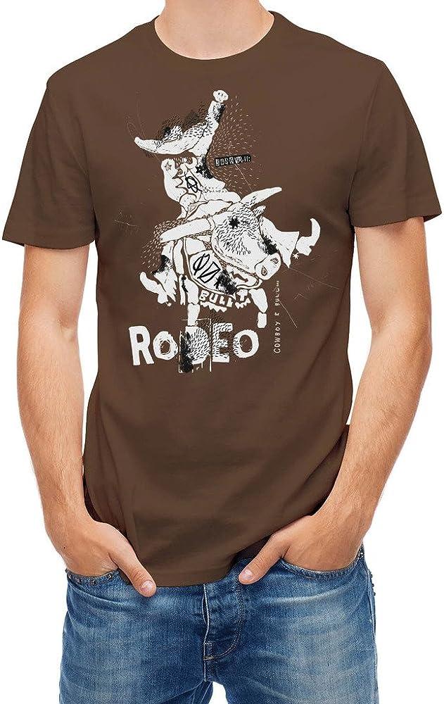 Bulls Camiseta Vaquero sobre Toro Rodeo marrón Tierra M: Amazon.es: Ropa y accesorios