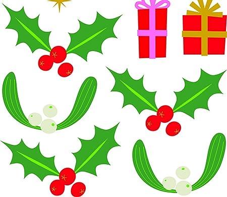 NOUVELLES IMAGES 170.002000.05 Stickers Design Branches de Sapin//Boules de No/ël Multicolore Polyvinyle 36 x 24 x 0,02 cm
