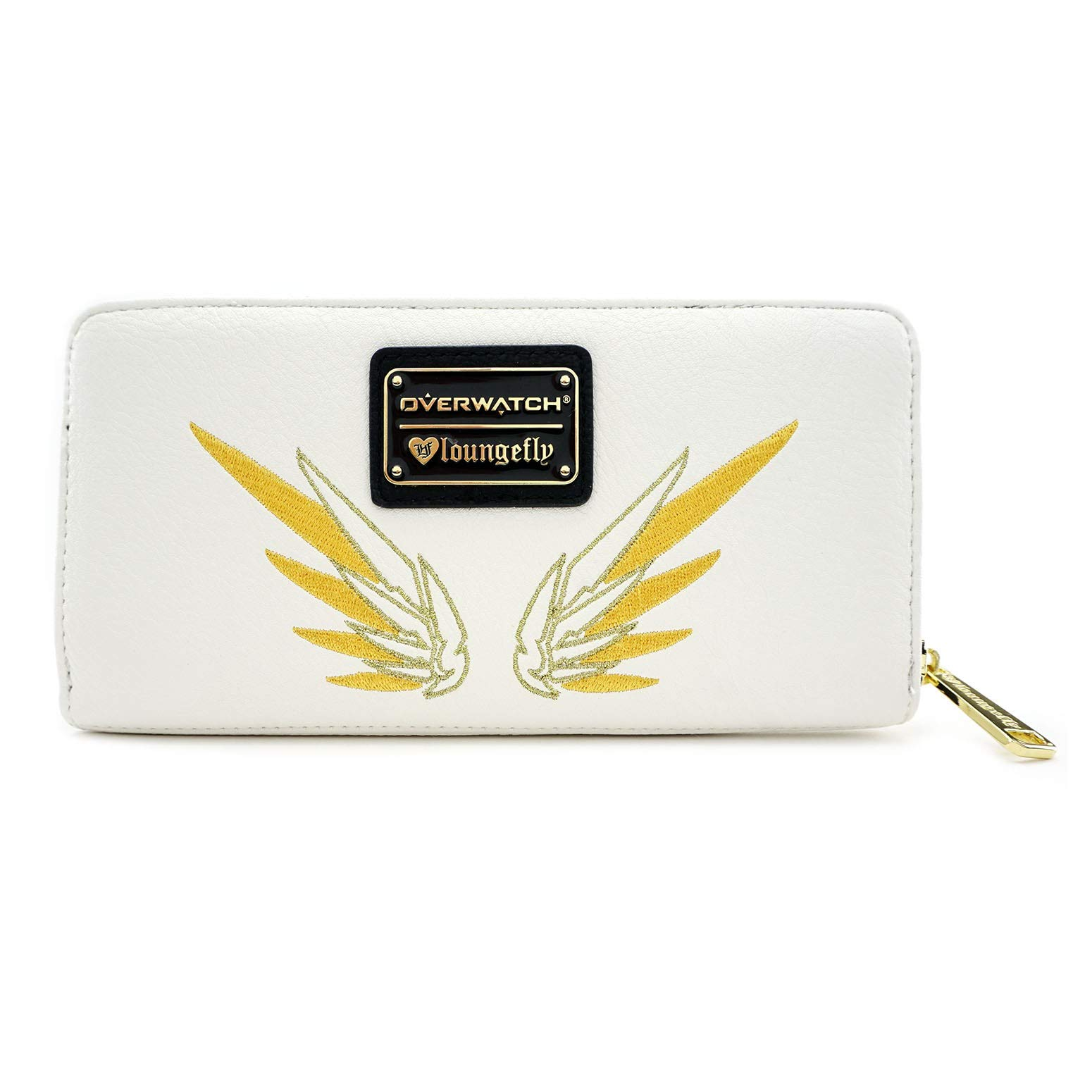 Loungefly Overwatch Mercy Faux Leather Zip around Wallet,Black,cream,Standard by Loungefly (Image #2)