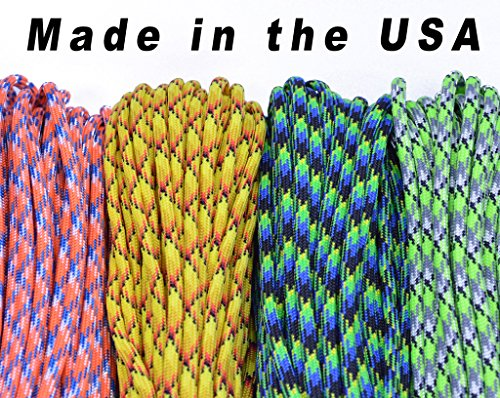 BoredParacord Brand 550 lb Paracord 100 ft. Over 300 Colors