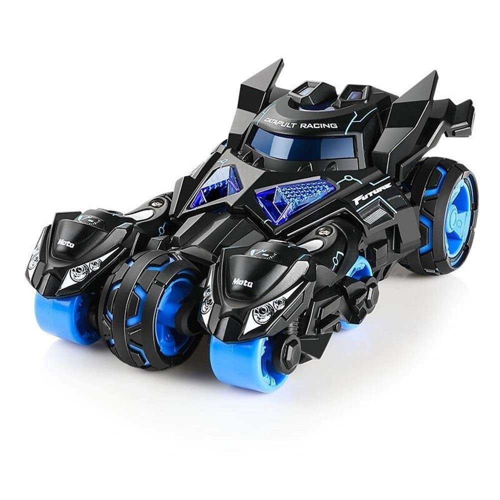 Kikioo Die-cast Pull Back Car Toys, Batman Authorization Push and Go Car with 2 Catapult Motorcycles, Sound and Lights Vehicle Indoor Outdoor Games Best Gifts for Boys & Girls 3 Years Old and Up
