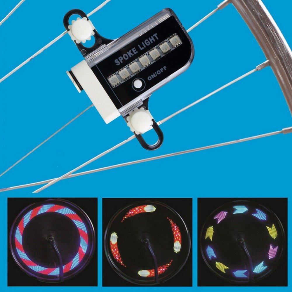 Lights For Bike Wheels - Wheel Bright - Bike Wheel Lights - Led Bicycle Tire Lights - Tire Bike Lights -Two Side Gofuly 14 Led Motorcycle Cycling Bicycle Bike Wheel Signal Tire Spoke Light 30 Changes