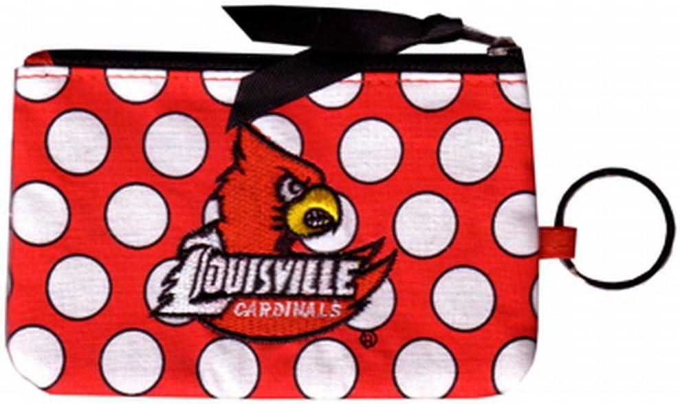 NCAA Louisville Cardinals Keychain Coin Purse Divided