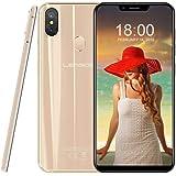 4G Smartphones Dual SIM Leagoo S9-5.85'' inch Android 8.1 SIM Free Mobile Phones Unlocked, 4GB RAM 32GB ROM 64-bit Octa-core, Camera 13MP + 2MP + 8MP, Face Access, Gold