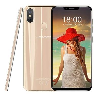 Smartphones LEAGOO S9 (2018) 4GB Android 8 1 SIM-Free Mobile Phones with  5 85 inch Display, 4G Dual SIM, 4GB RAM + 32GB ROM, 13MP Triple Camera  Mirror