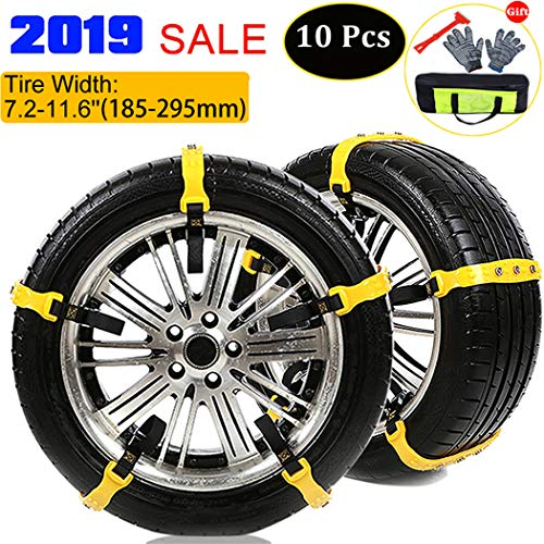 Review Of BiBOSS Snow Chains 10 Pcs Anti Slip Tire Chains Adjustable Emergency Traction Security Car...