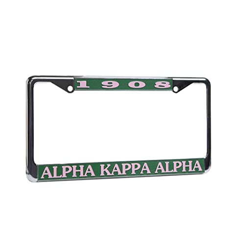 Amazon.com : Alpha Kappa Alpha License Plate Frame : Sports & Outdoors