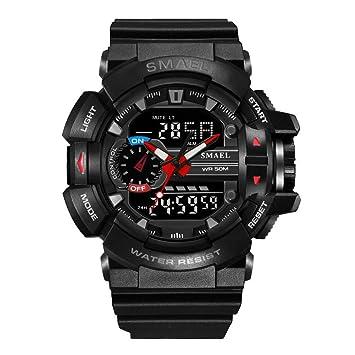 30M Impermeable Reloj Deportivo para Hombre S-Shock Military Relojes LED Quartz Doble Display Exterior