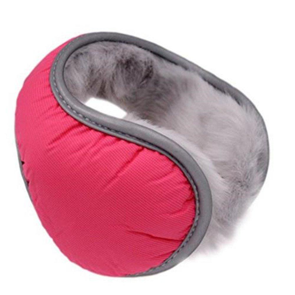 Men's and Women's Foldable Big Ear Winter Warmers Furry Earmuff Outdoor Blue