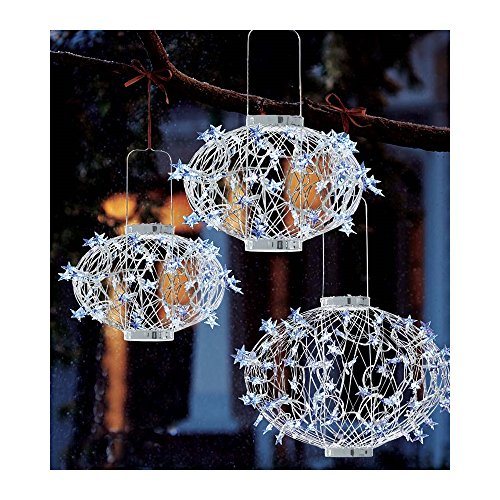 White Solar Star Lanterns by Plow & Hearth