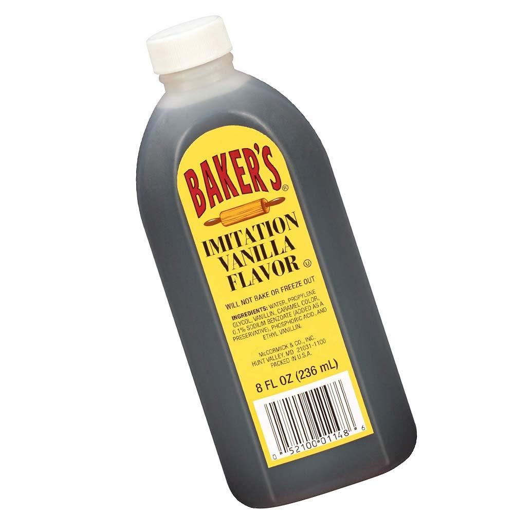 Baker's Imitation Vanilla Extract (New Version)