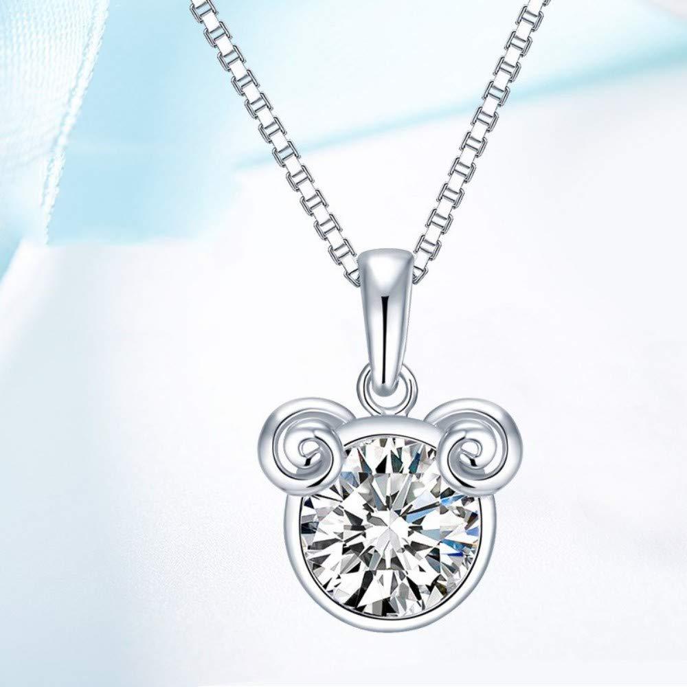 QWERST女性ネックレススターリング星座ペンダントファッションシンプルなエレガントな絶妙なチャームネックレス最高の贈り物   B07M7K7VMZ